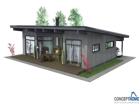 simple small house affordable small modern house plan