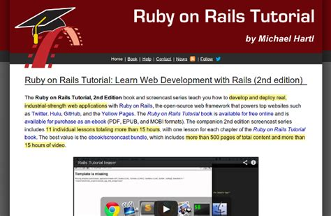 tutorial web development best 6 online training courses for learning ruby on rails