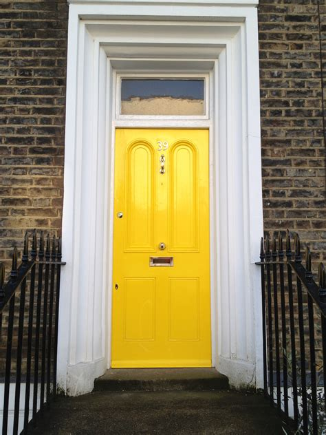bright yellow door reach for the raybans a bright yellow late georgian