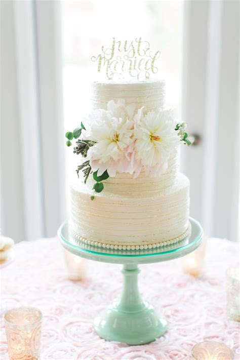 Classic Ivory Tiered Buttercream Wedding Cake   Wedding