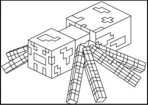 Minecraft Spider Coloring Pages minecraft coloring pages printable minecraft spider