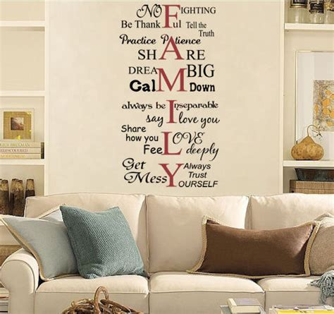 word wall decor family words wall decals trading phrases
