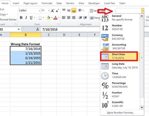 format date excel how to change excel serial date format using text to