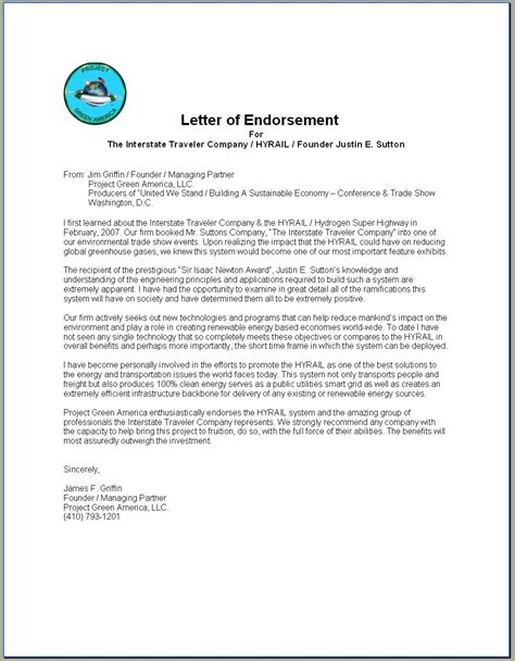 certification letter of endorsement sle endorsement letter for 28 images doc 8271069 doc404536