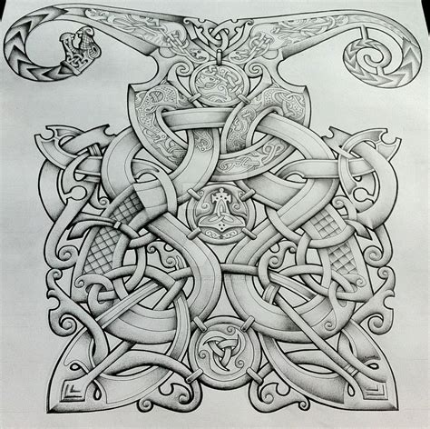 viking style tattoo designs viking style design by design on deviantart