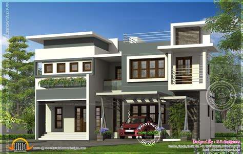 home parapet designs kerala style modern contemporary residence design kerala home design