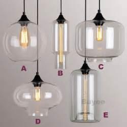 Chandelier Socket Modern Industrial Style Pendant Light Glass Shade Ceiling