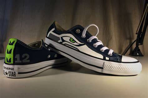 seahawks shoes painted seattle seahawks shoes