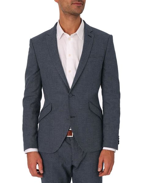 black pattern suit selected zero pattern black suit jacket in black for men
