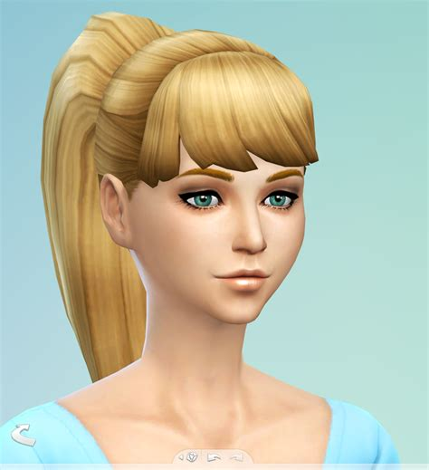 the sims 4 cc hair ponytail my sims 4 blog edited ponytail by simsticle