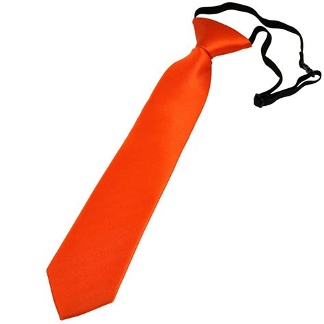 plain orange boys tie 6 months to 4 years from