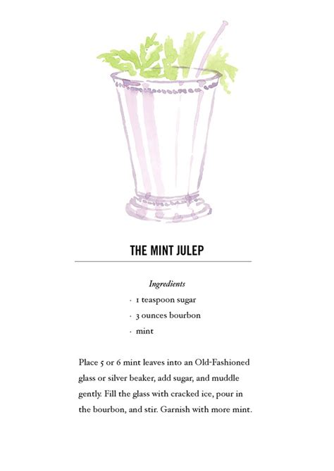 cocktail recipe cards mint julep cocktail recipe card postcard back buy all 12