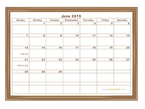 June 2015 Calendar June 2015 Calendar Blank Printable Calendar Template In