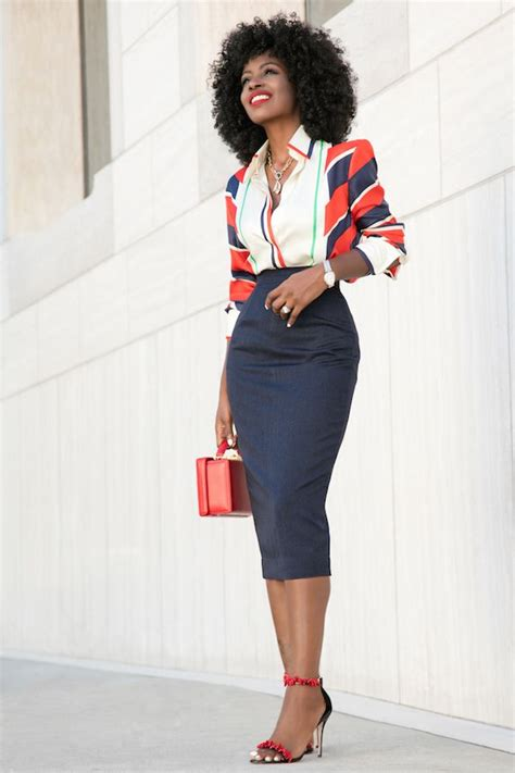 17 best ideas about striped pencil skirts on