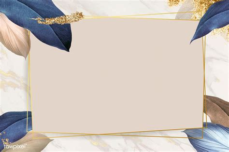 premium vector  rectangle foliage frame