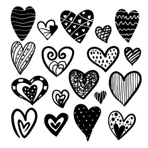 imagenes corazon en negro colecci 243 n de corazones en blanco y negro descargar