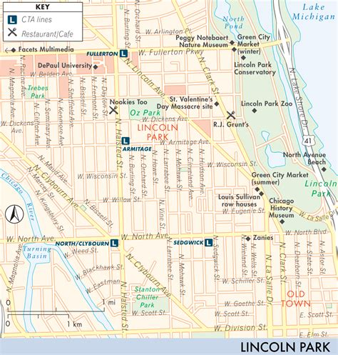 lincoln park chicago map map of lincoln park wicker park and bucktown lincoln