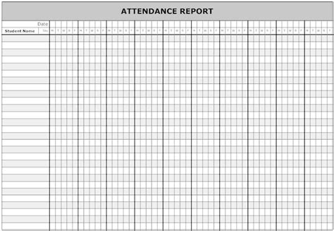 Student Attendance Record Template 10 Best Images Of Student Attendance Record Form