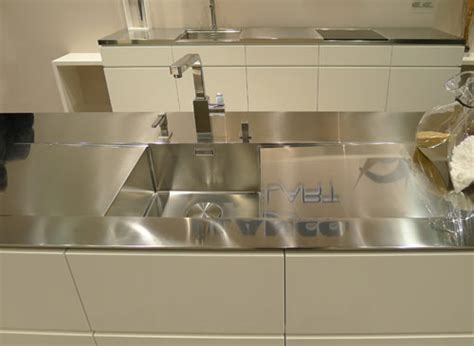Integrated Stainless Steel Sink And Countertop by Kitchen Design Trends For 2011 Design Milk