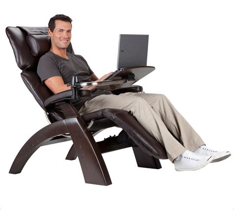 recliner with desk perfect chair laptop table human touch