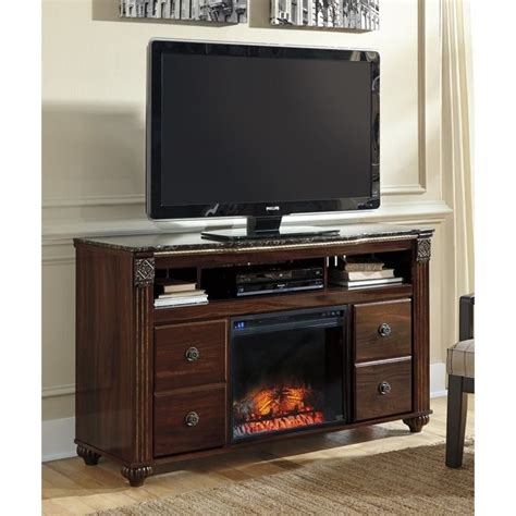 gabriela faux marble led fireplace 58 quot tv stand in