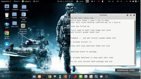 install themes kali linux 2 0 install macos theme in kali linux youtube