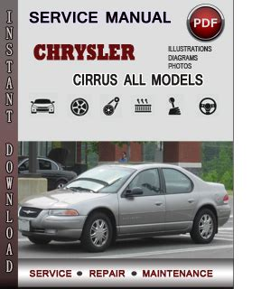 service manual owners manual for a 1999 chrysler cirrus service manual pdf 1999 chrysler