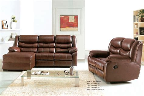 hotsale leather sofa set recliner sofa set different