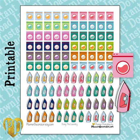 free printable laundry planner stickers laundry printable planner stickers iron stickers washing