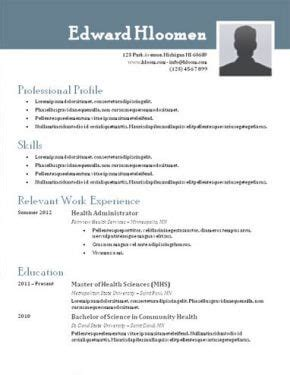 Best Cv Templates Word by Top 10 Best Resume Templates Free For Microsoft Word