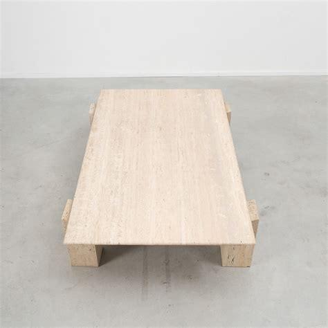 travertine coffee table rectangular travertine coffee table b 233 ton brut