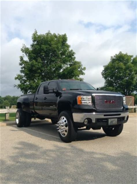 gmc tires smithfield purchase used gmc 3500 dually 22 5 lifted truck black nav