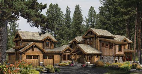 idlewild log home floor plan by mountain architects