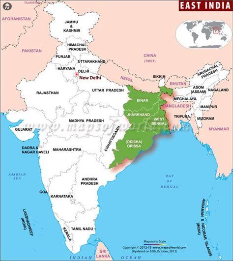 bengal india map map showing the eastindia states west bengal odisha