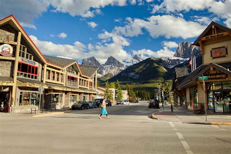 of town the charismatic canmore town alberta canada world for travel