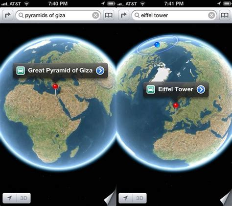 globe enterprise maps application see the whole earth in the ios 6 maps app ios tips