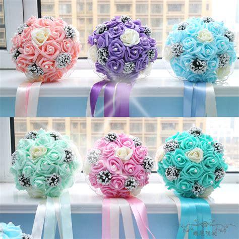 Handmade Wedding Flowers - handmade wedding flower silk ribbon flowers bridal bouquet