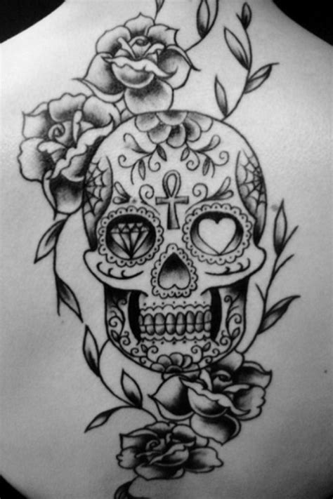 sugar skull and roses tattoo 23 best images about sugar skull on