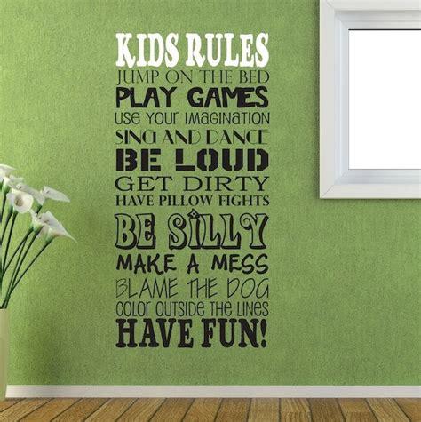 kids bedroom rules wall decal kids rules wall vinyl sayings kids room
