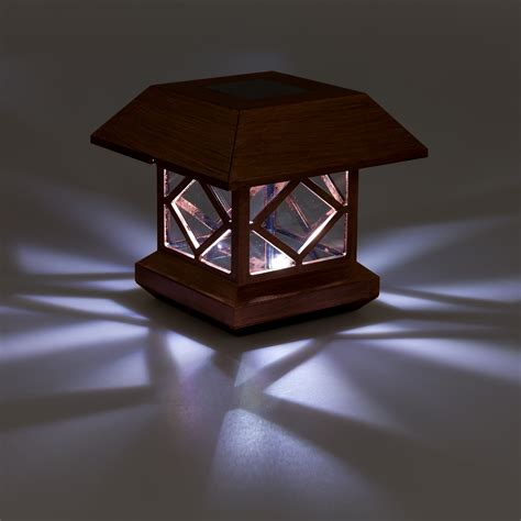 Greenlighting Outdoor Summit Solar Post Cap Light For 4x4 Wooden Solar Lights