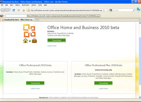 Microsoft Office Downloads by Free Microsoft Office 2010 Beta Version