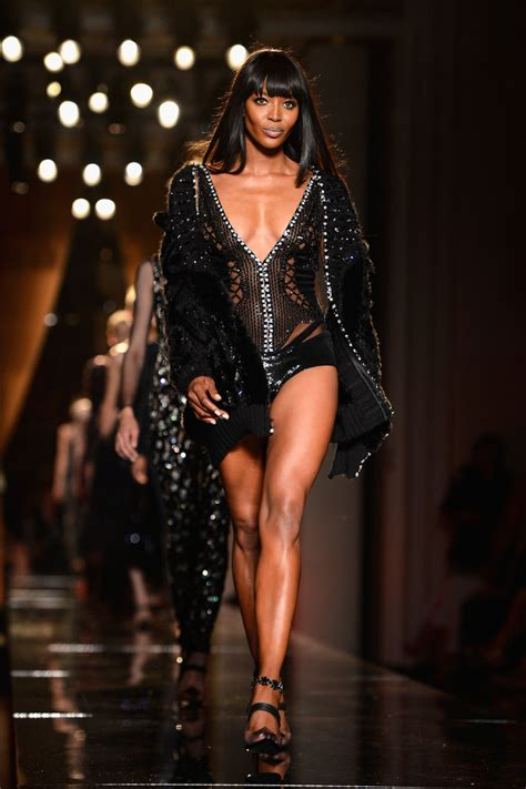 Who Wore Versace Best The Catwalk Model Or Schiffer by Cbell Photos Pfw Versace Runway Show Zimbio