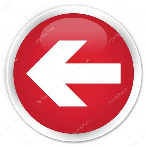 button back flecha roja icono bot 243 n back fotos de stock