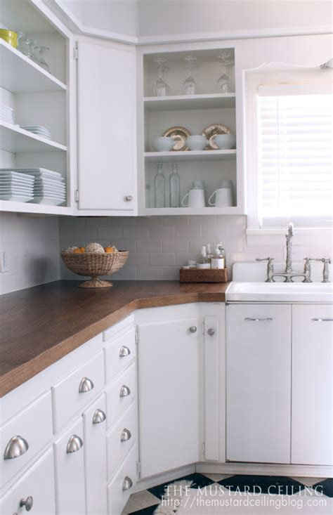 White Wood Countertops by Remodelaholic 100 Wooden Countertops Tutorial