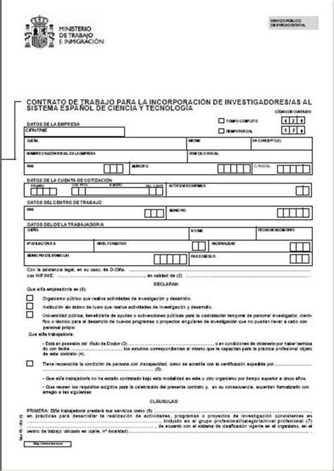 contrato general de empleo descargue plantillas de modelos contrato de trabajo para incorporar