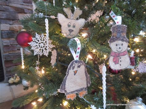 how to make burlap christmas ornaments