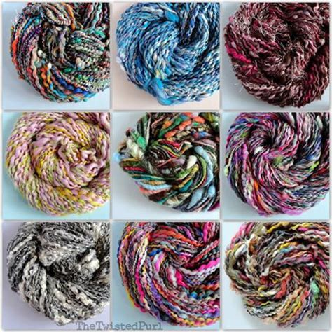Handmade Yarn - custom handmade yarn twisted purl