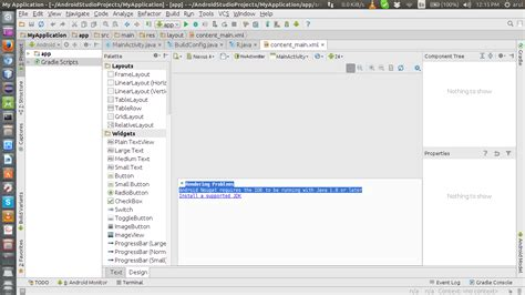 android studio layout rendering problems 16 04 rendering problems android nougat requires the