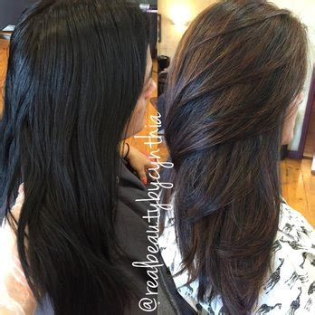 dark hair after 70 before and after dark brown black virgin hair to caramel