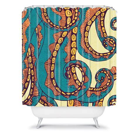 octopus curtains arcturus octopus shower curtain
